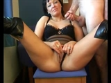 Horny Older Client Gives Massive Cumshot to Mature Escort