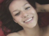 Incredibly Cute Girlfriend Smiles with Cum Dripping on Her Face