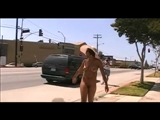 Sexy Nude Black Lady Doing Public Exhibitionism on Busy Roads