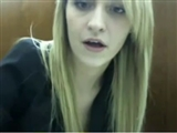 Amazing Live Show Masturbation of Blonde in Library