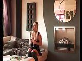 Réel Porn vidéo chaude Blonde escorte agréable son Client